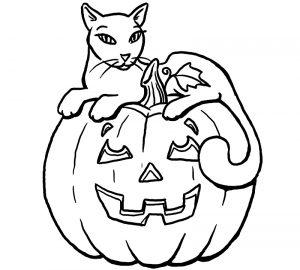 Dovleac - planse de colorat halloween - colorica