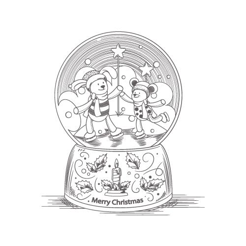 Glob de cristal cu zapada - colorica.ro