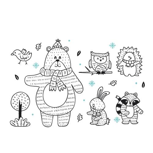 Urs de colorat - colorica.ro